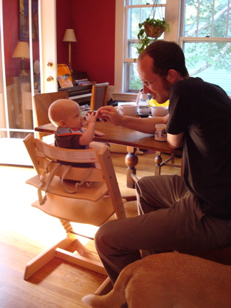Dashiell in the Tripp Trapp High Chair