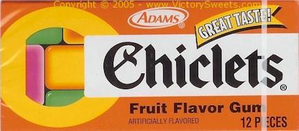 Chicklets Gum