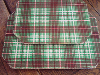 Retro plaid trivets