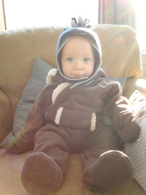 Cute Dash in snowsuit