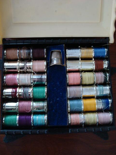 Vintage Celluloid Sewing Box