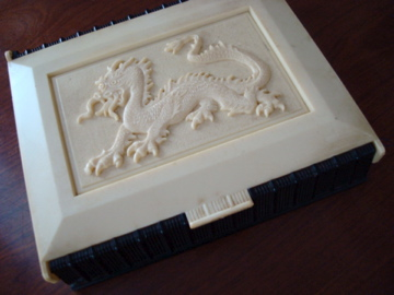 Celluloid Dragon Sewing Box