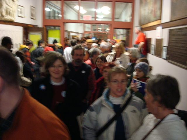 Registration Lines at Portland Caucus