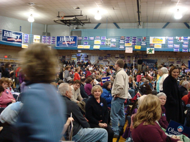 Democratic caucus crowd portland maine