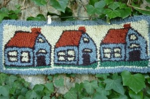 blue house by zucchini flour vintage